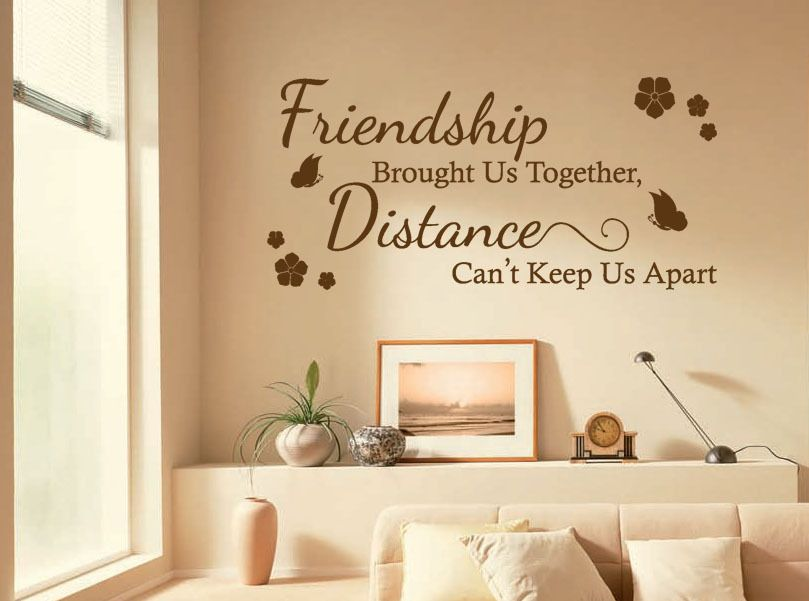 Friendship Wall Quote Friendship Brought Us Wall Art